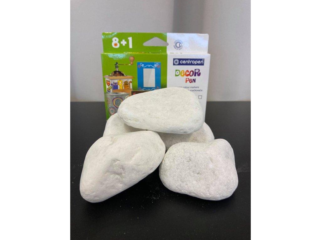 SET Barvy Decor pen + 3kg bílých kamínků