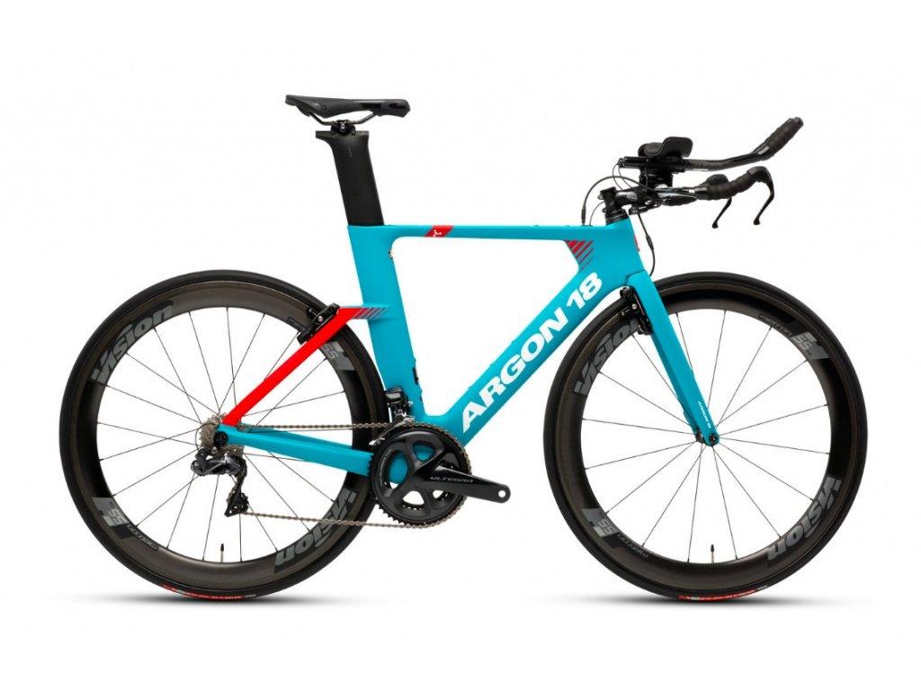 Triatlonové kolo Argon 18 E117 Tri Ultegra 2019 - turquoise/Red