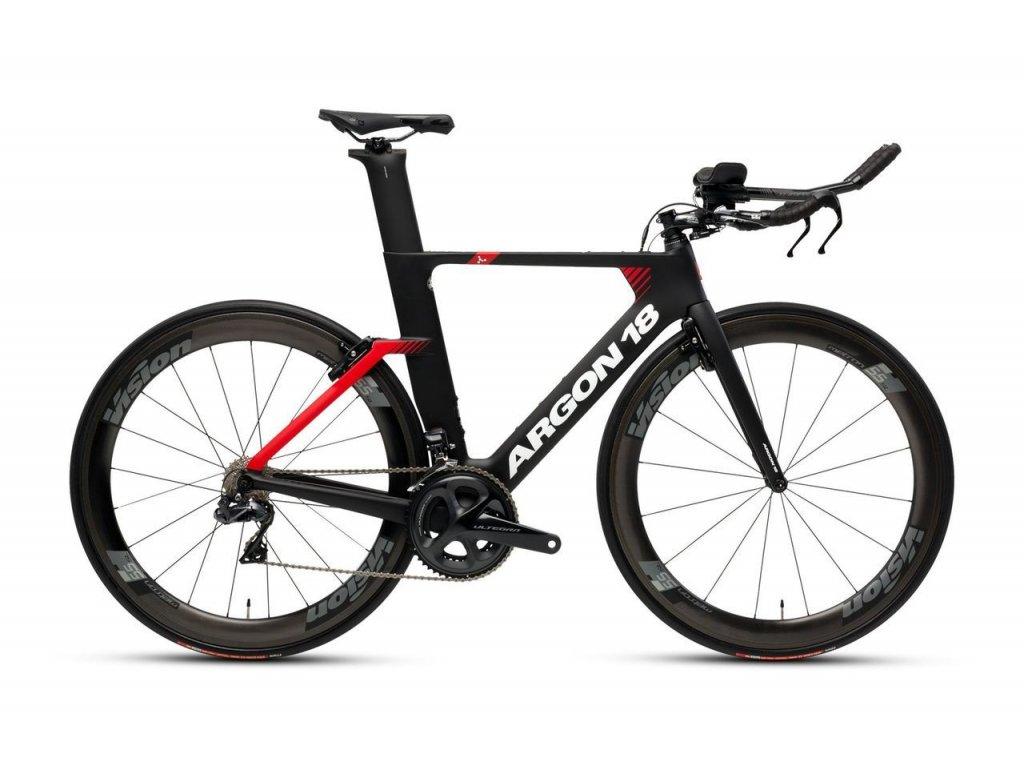 Triatlonové kolo Argon 18 E117 Tri Ultegra 2019 - black/red