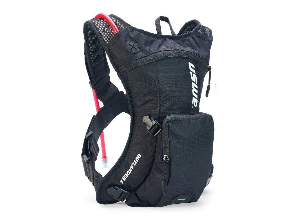 Multisportovní batoh s pitným vakem USWE Outlander 3 - carbon black