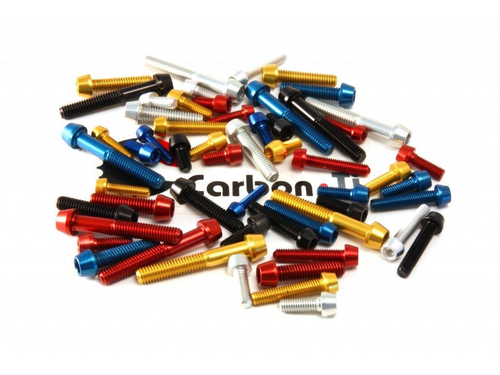 Carbon-Ti Tapered Head Al7075 M5x25