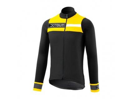 Cyklistický dres Dotout Galaxy Jersey - black/yellow