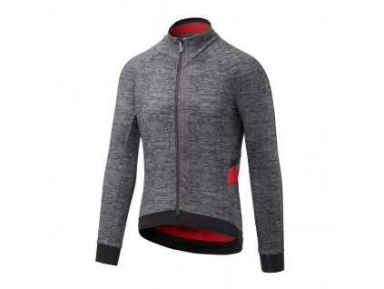 Cyklistická bunda Dotout Le Maillot Jacket - melange grey/red