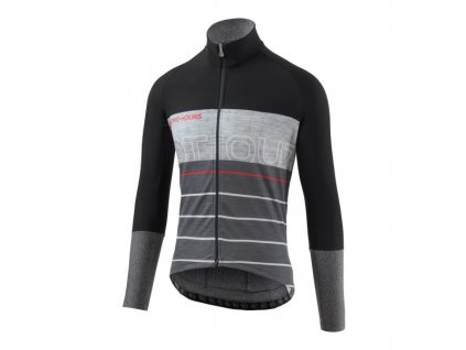 Merino dres Dotout Fanatica Wool Jersey Black/Dark Grey