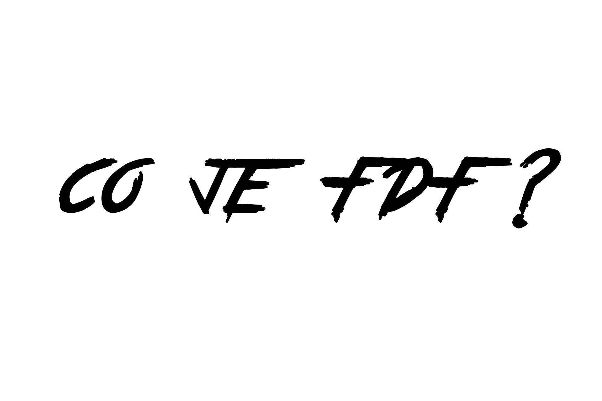 Co znamená FDF?