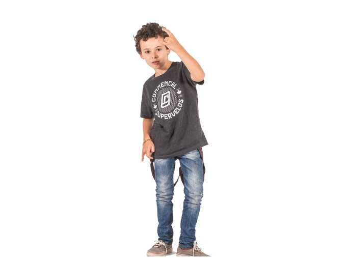 T shirt chip charcoal kid L (10 12 let)