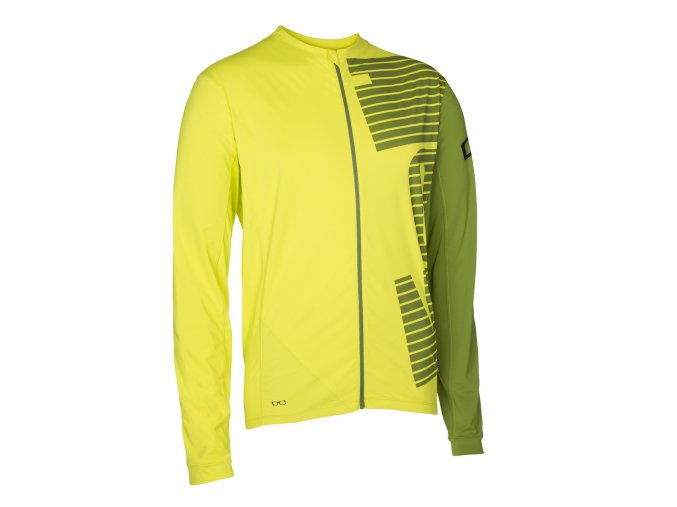 47602 5055 ION Tee Full Zip LS CREST lime f