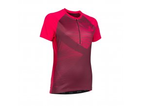 47703 5063 ION Tee Half Zip SS TRAZE WMS red f