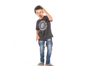 T shirt chip charcoal kid L (10 12 let)