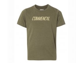 Commencal T SHIRT CORPORATE MILITARY GREEN KIDS 2018