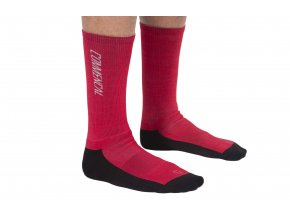 COMMENCAL PRINTED RED SOCKS 2019