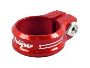 Hope Single Bolt Seat Post Clamp Seat Post Clamps Red NotSet SCRB30 0