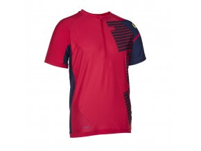 47602 5053 ION Tee Half Zip SS HELIO red f