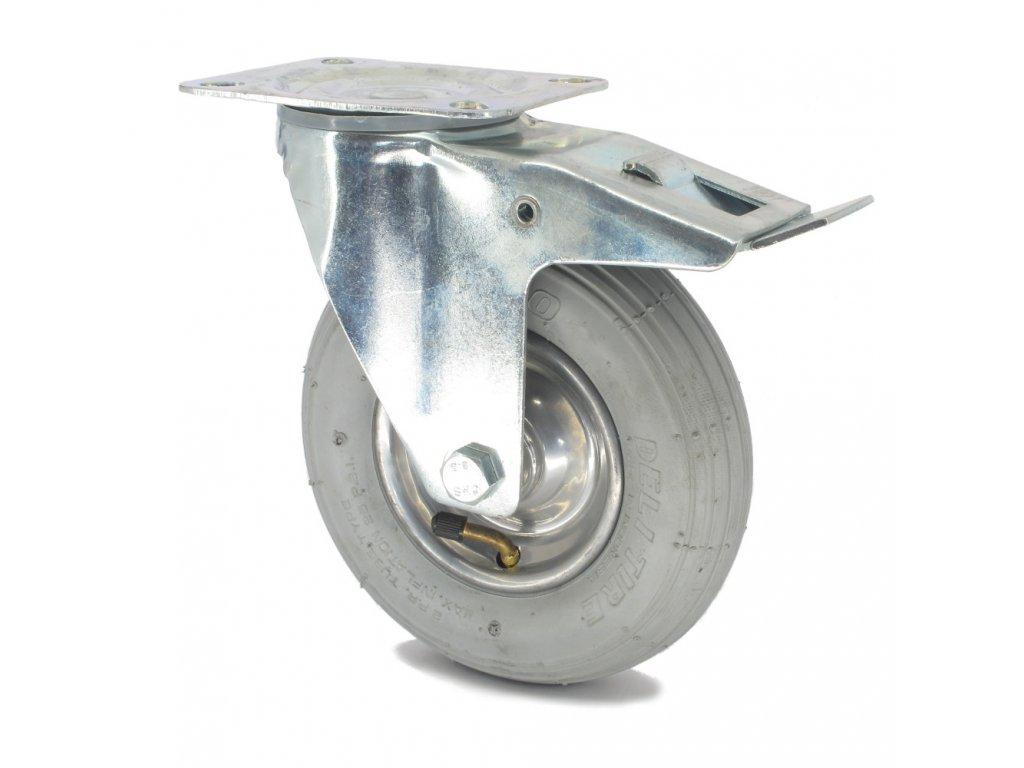Pojezdové kolečko bantamové ŠEDÉ Ø 200, otočné s brzdou