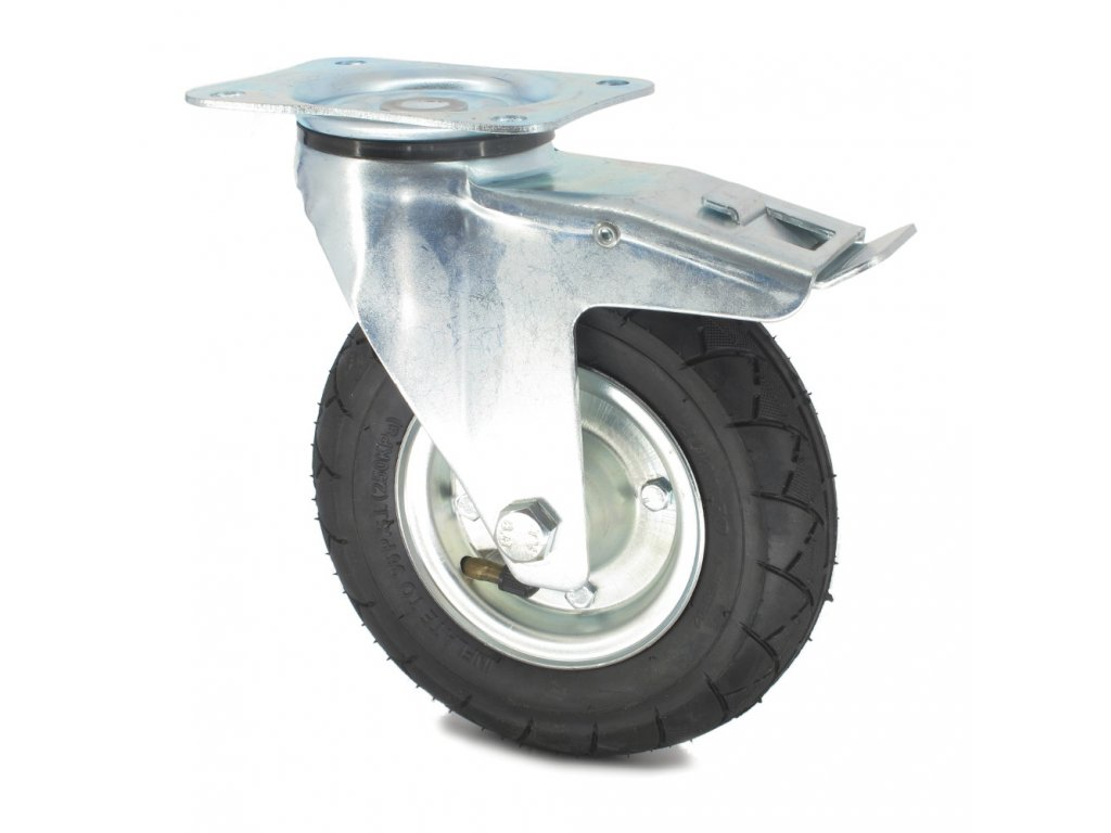 Pojezdové kolečko bantamové ZABI Ø 200, otočné s brzdou
