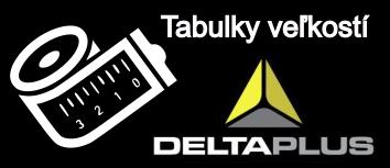 Veľkostná tabulka výrobkov DELTAPLUS
