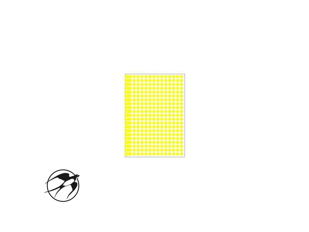 Etikety kruhové 8mm Agipa A5 žlté
