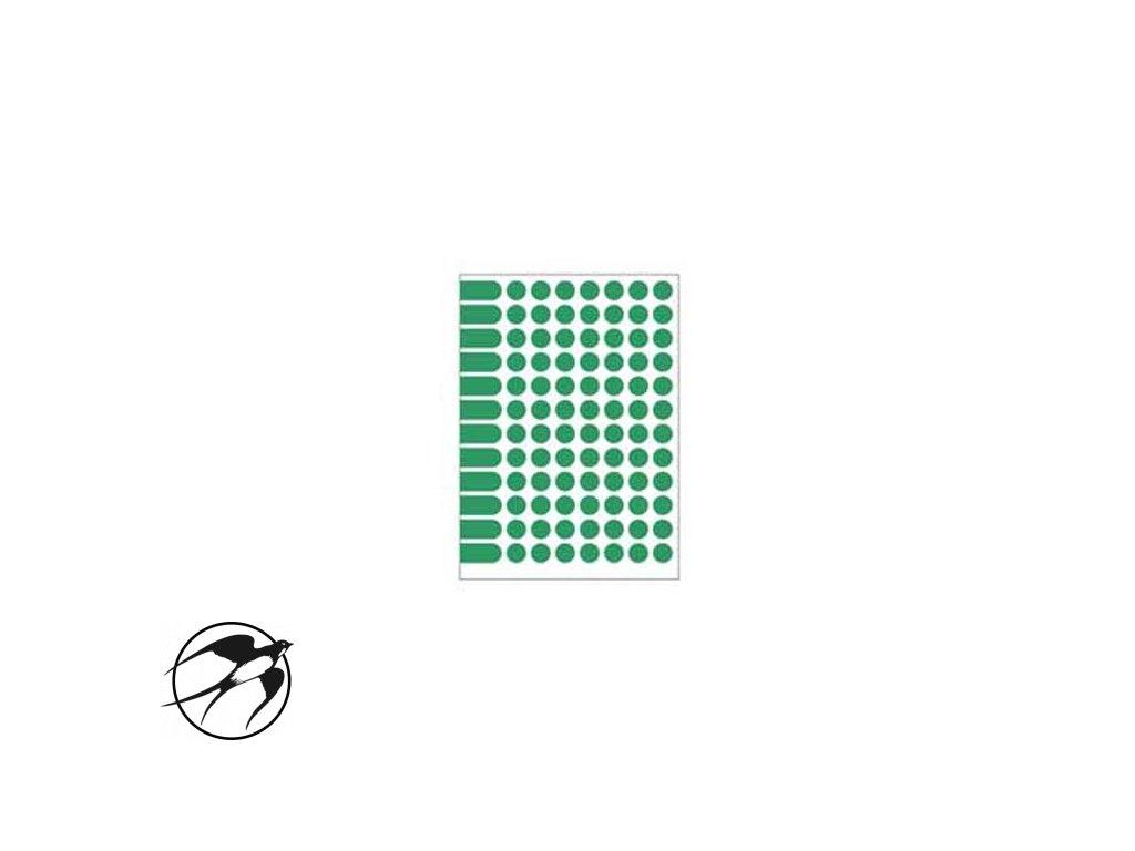 Etikety kruhové 15mm Agipa A5 zelené