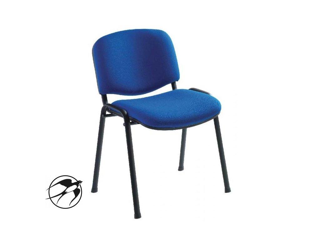 Rokovacia stolička Taurus TN modrá C6 - kostra čierna