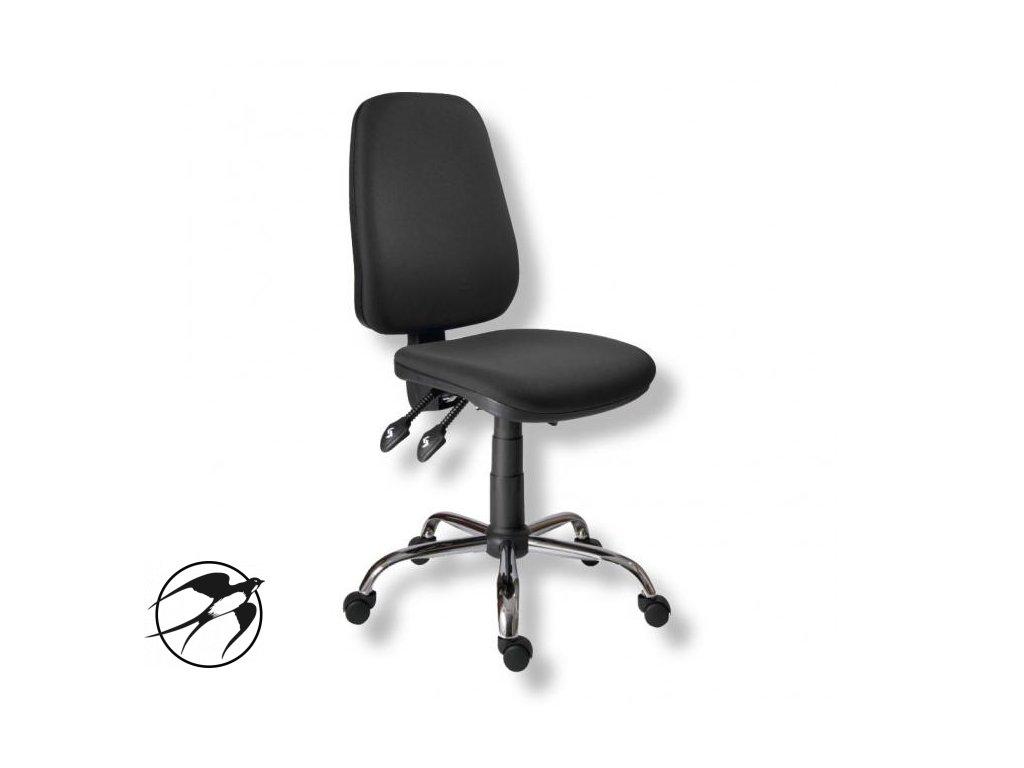 Kancelárska stolička 1140 ASYN C chróm/čierna AM117T