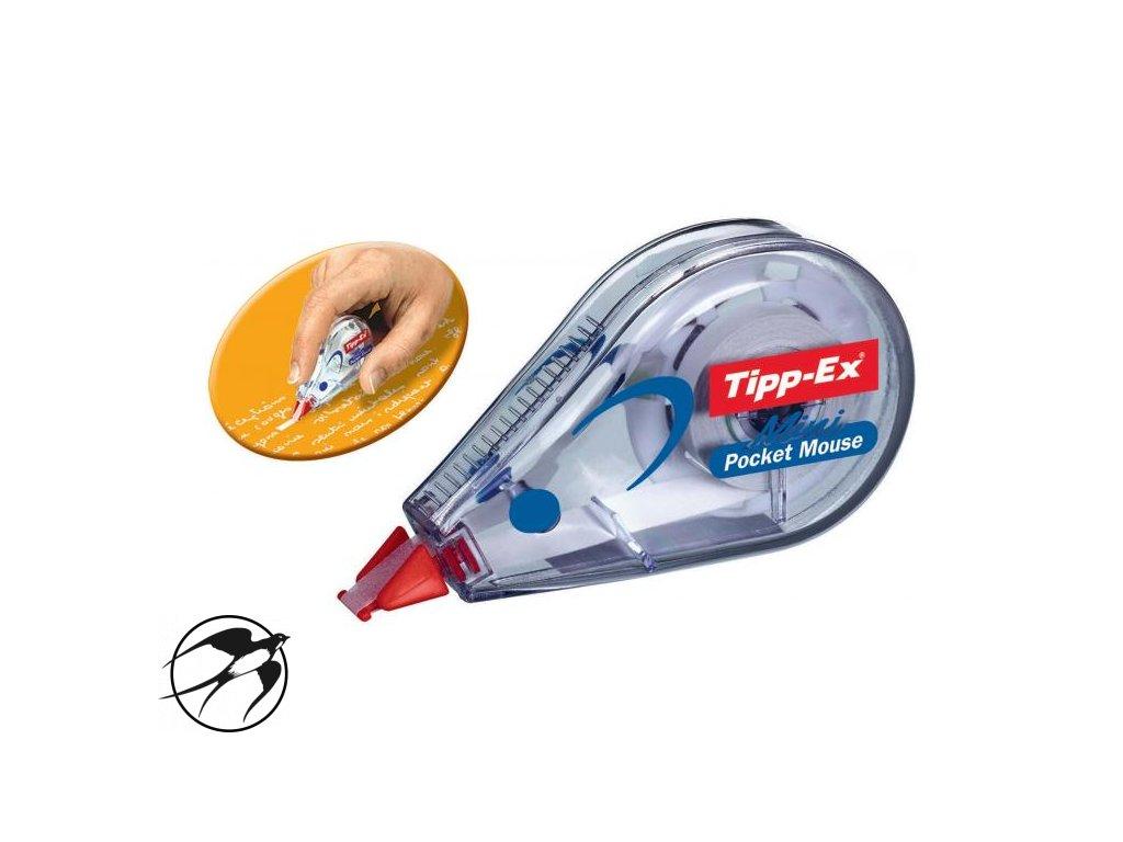 Korekčný roller Tipp-Ex Mini Pocket Mouse jednorazový 5mmx5m