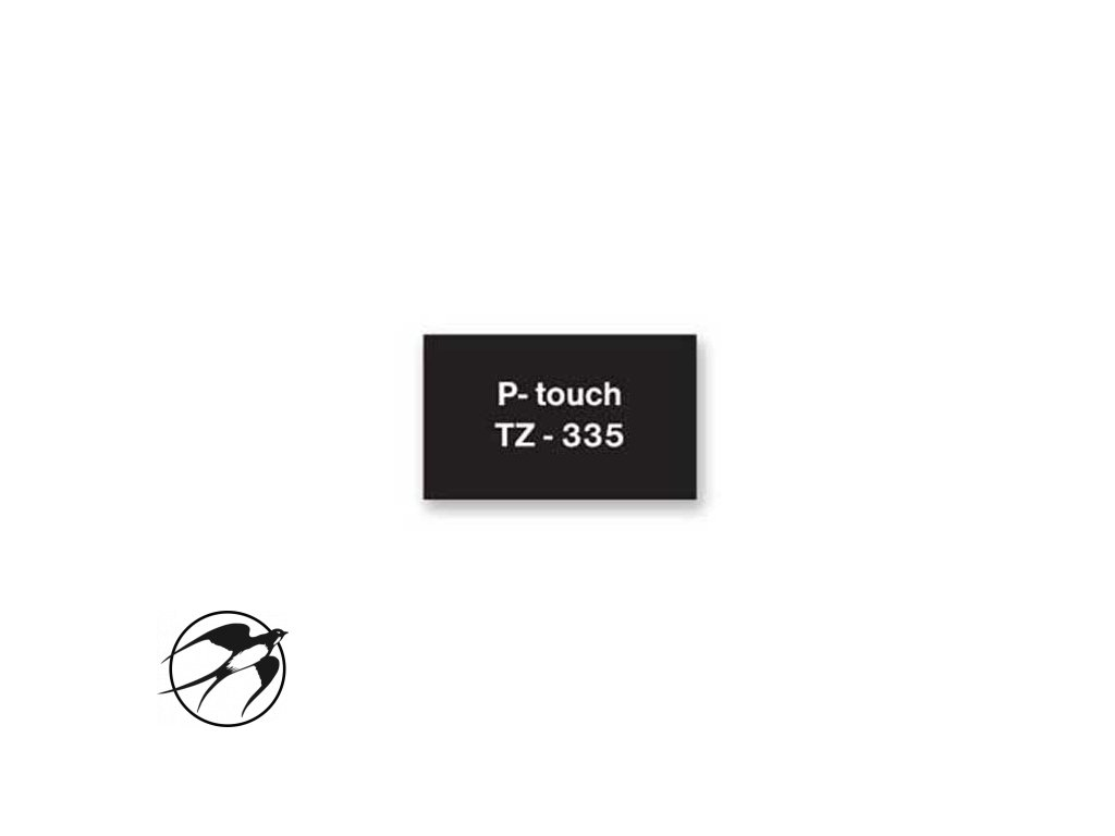 Samolepiaca páska Brother TZe-335 12mm čierna/biela