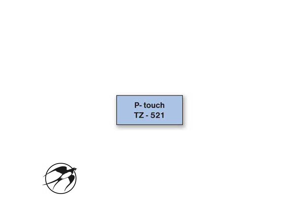 Samolepiaca páska Brother TZe-521 9mm modrá/čierna