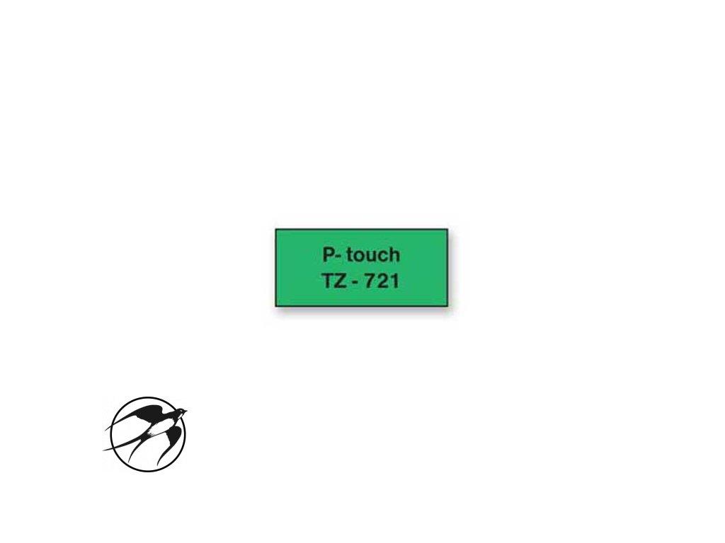 Samolepiaca páska Brother TZe-721 9mm zelená/čierna