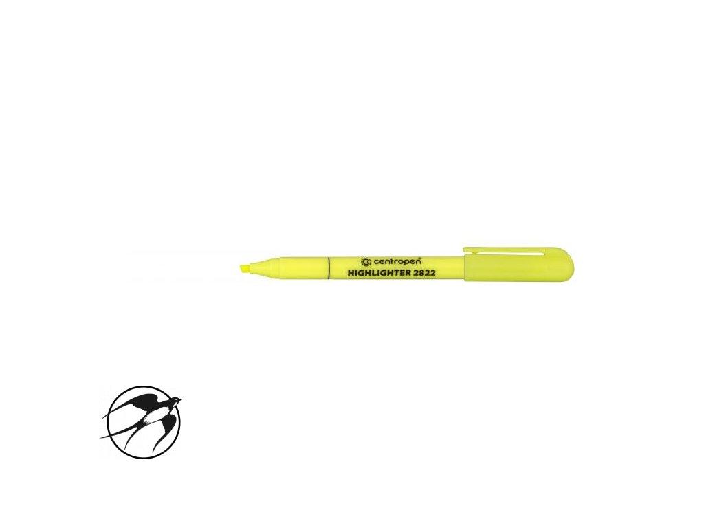 Zvýrazňovač Centropen 2822 žltý