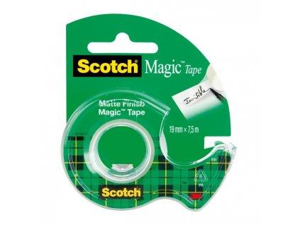 Lepiaca páska Scotch Magic neviditeľná popisovateľná 19mmx7,5m s dispenzorom