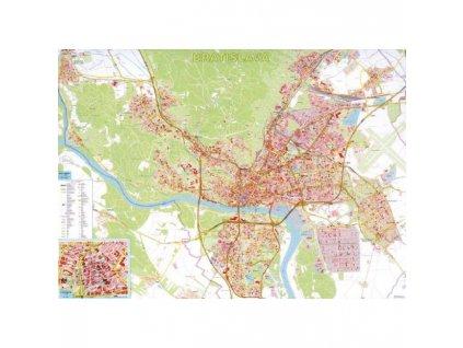 Mapa Bratislava s registrom 1:15.000