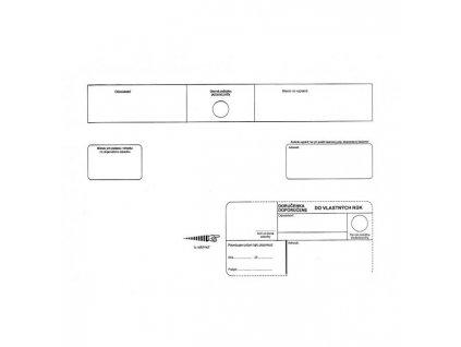 Poštové obálky C4 s páskou, do VR bez OD biele, 250 ks
