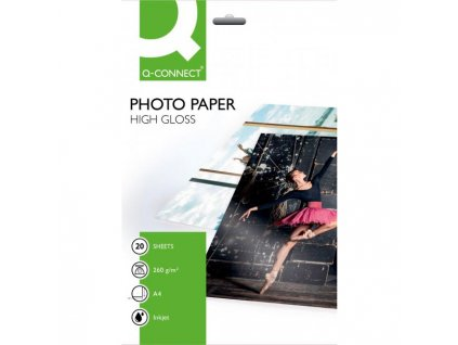 Fotopapier Q-Connect vysoký lesk, 260g, 20 hárkov