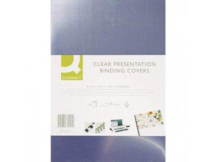 Plastové obálky na krúžkovú väzbu Q-Connect A3 PVC 200mic číre