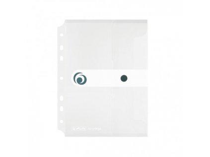 Plastový obal A5 s cvočkom a eurodierovaním Herlitz Easy Orga priehľadný číry