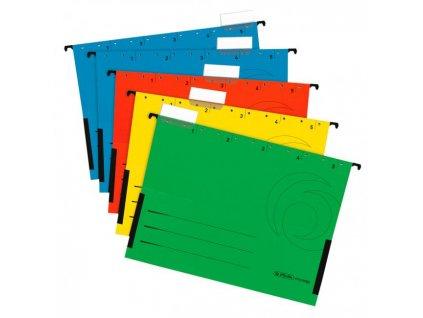 Závesný obal Herlitz zatvorený na oboch stranách 5ks mix farieb