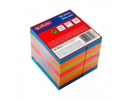 Blok kocka lepená Herlitz 90x90x90mm farebná