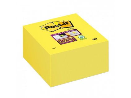 Bloček kocka Post-it Super Sticky 76x76mm žltá 350l