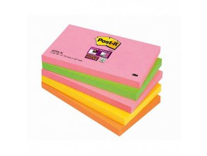 "Bločky Post-it Super Sticky ""Kapské Mesto"" 76x127 neónové farby"