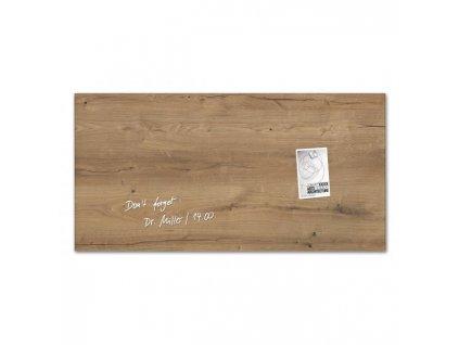 Sklenená tabuľa artverum 91x46cm prírodné drevo
