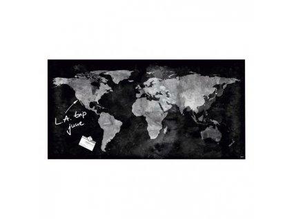 Sklenená tabuľa artverum 91x46cm mapa sveta