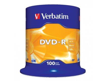 Verbatim DVD-R 16x 4,7GB cake 100 ks
