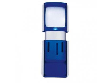 Lupa 3,5x3,8cm s podsvietením modrá