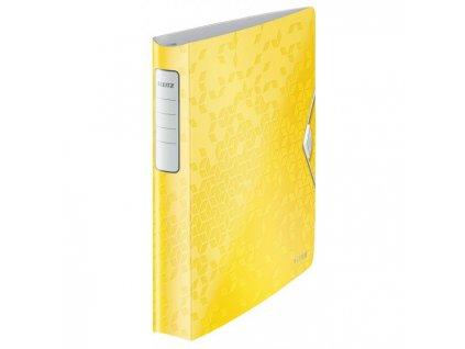 Zakladač 4-krúžkový Leitz Active WOW celoplastový 5,2cm žltý