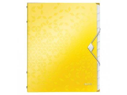 Triediaca kniha 12 Leitz WOW žltá