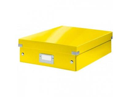 Stredná organizačná škatuľa Click & Store žltá