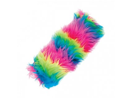 Puzdro na perá Rainbow fluffy