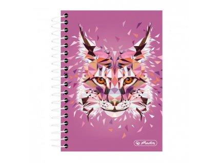 Blok College Herlitz Wild Animals 10x14, 200 listov štvorčekový rys