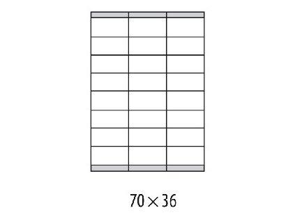 Etikety univerzálne 70x36mm Etibox A4 100 hárkov