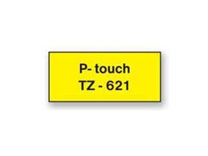 Samolepiaca páska Brother TZe-621 9mm žltá/čierna